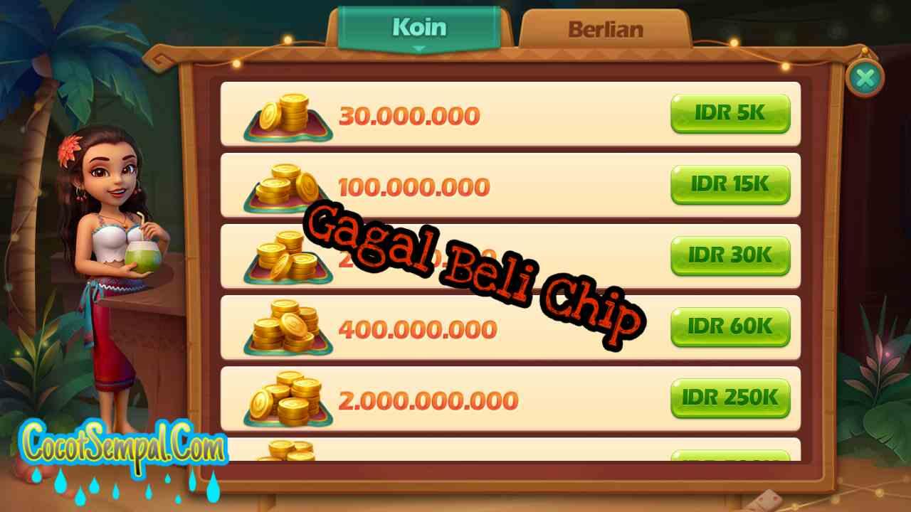 Solusi Gagal Beli Chip Poker Higgs Domino Island Game Kartu