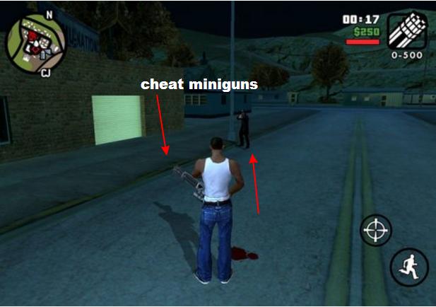 Cheat Game GTA San andreas Miniguns