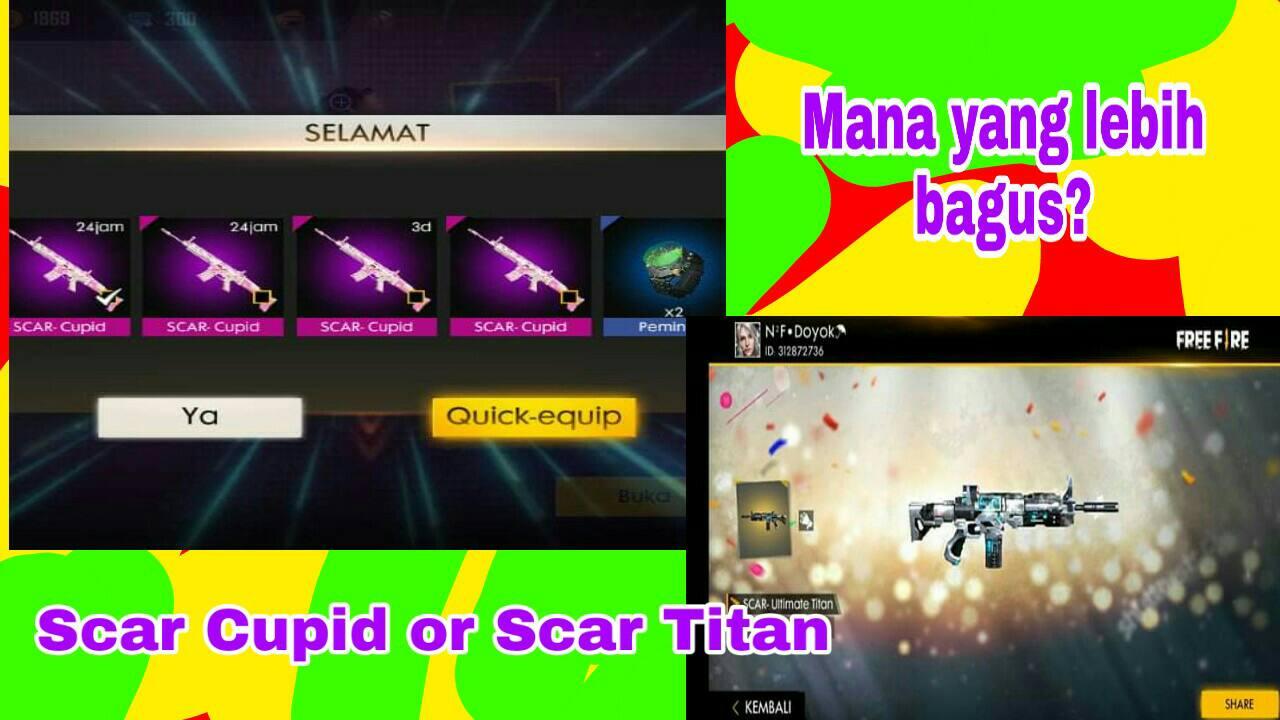 Skin Senjata Scar Cupid VS Scar Ultimate Titan, Bagus Mana ?