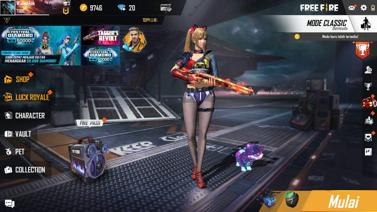 Kombinasi Skill Caroline FF terbaik Untuk Rusher