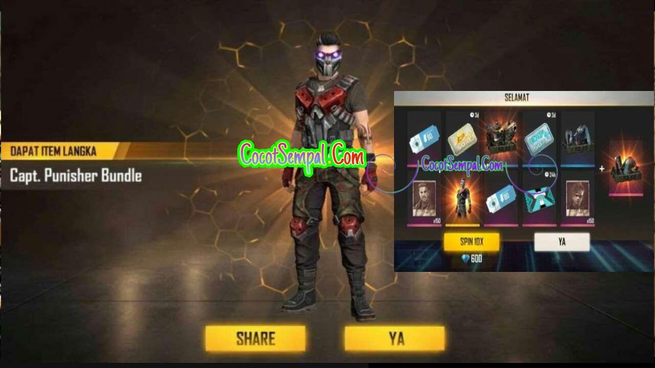 Cara Mendapatkan Bundle Captain Punisher di Free Fire (FF) Terbaru 2020