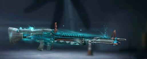 Skin Senjata M60 Captain Bubbles Luck Royale